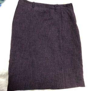 H&M Deep purple pencil skirt
